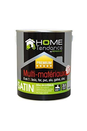 Laque multi-matériaux 6 en 1 2,5 L gris clair RAL 7040 satiné - HOME TENDANCE by Renaulac