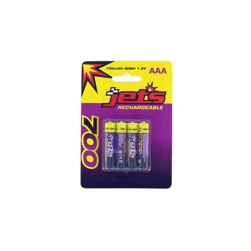 Jets Batterie Ricaricabili RC 700 mha Ni MH 1.2v AAA Confezione da 4 Pz