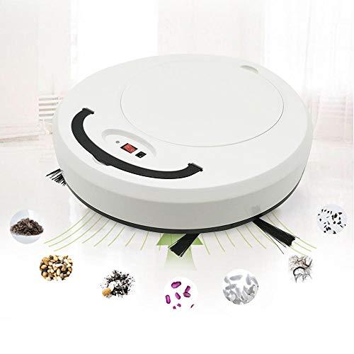 Lesgos Robot Limpiador, 3 en 1 ménage Smart Sweeper Robot Cleaner USB Rechargeable Smart Sweeping Machine pour Sol dur et Tapis Mince
