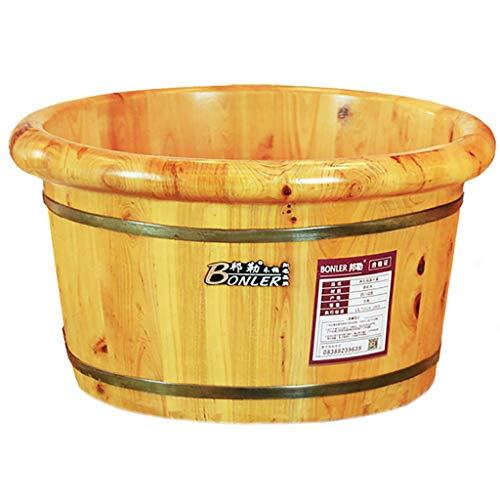 Sale!! Foot Bath Barrel, Wooden Foot Basin Health Massage Durable Heightening Foot Tub Nature Hydro ...
