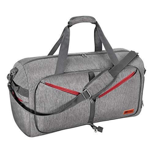 SimpleHome Opvouwbare sporttas voor dames en heren, schoudertas voor de sportschool, 65L reistas