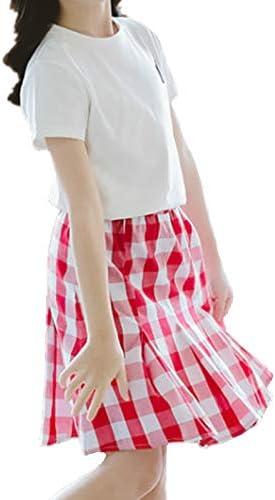 Oushiny Girls Summer Skirt /& T-Shirt 2pcs Set 3 Styles for 2-12