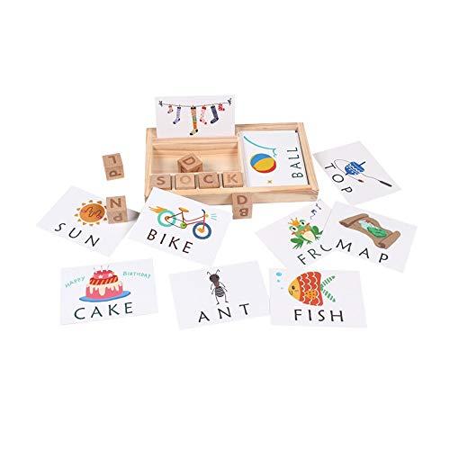 Kladblok met papier voor het lezen en leren van educatief alfabetspeelgoed Houten briefspel