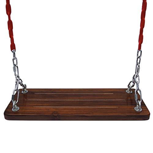 Hamaca para Acampar Cadena de hierro columpio al aire libre silla colgante de silla de asiento antideslizante de madera soporte patio patio balcón sillón de cuna al aire libre swing 23.6x7.8 pulgadas