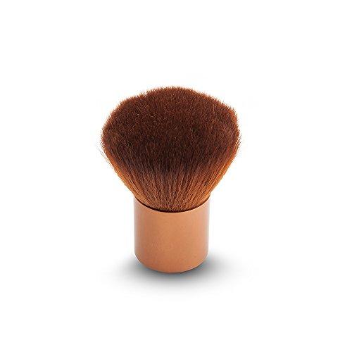 Dosige 1 pcs Set Brosse à Poudre Portable Cheveux en Nylon Artificiel Souple Pinceaux Professionnel Pinceaux de Maquillage - Or Clair