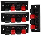AERZETIX: Juego de 4 - Bloque Terminal de Altavoces - 70/24mm - Estéreo - 4 vías - Botones pulsadores C43776