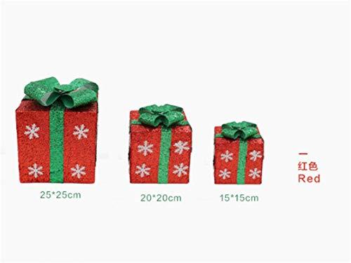 Geschenkbox Weihnachtsgeschenkkasten Schneeflocke Glitter Präsentverpackungen Boxen Weihnachten Startseite dekorative Geschenkverpackung geschenkbox weihnachten ( Color : Red , Gift Box Size : 15x15 )