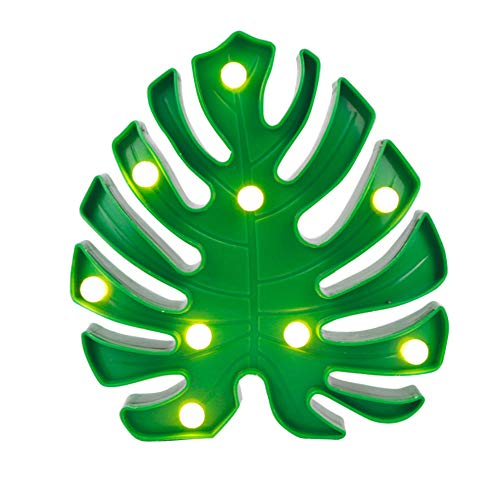 Yhhzw 19Cm Green Leaf Foliage Indoor Lamp Table Decoration Marquee Letter Light Plastic Light 3D Led Letter Sign