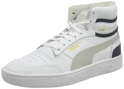 PUMA Ralph Sampson MID JR Sneaker, White Gray Violet Peacoat, 36 EU