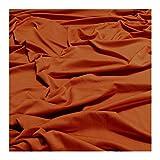 Stoff Polyester Elastan Interlock Jersey mango leicht