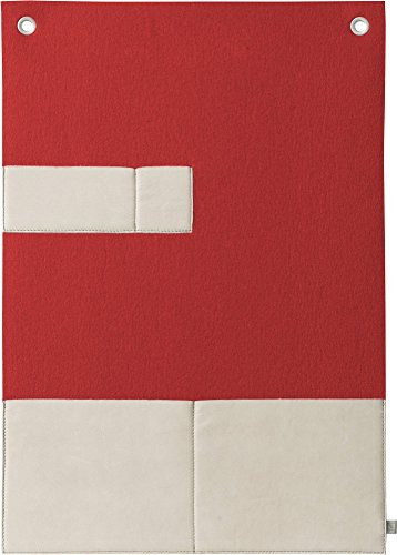 FineFilz Prospekthalter PH2 aus reinem Merinowollfilz 100% Handmade in Germany (lumious red)