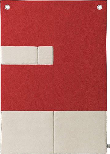 FineFilz Prospekthalter PH2 aus Reinem Merinowollfilz in Verschiedenen Farben - 100% Handmade in Germany (lumious Red)