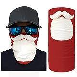 Navidad Santa Barba mágica bufanda cuello polaina bandanas para hombres mujeres Handwear para al aire libre montar pasamontañas a prueba de polvo diadema decoraciones blanco onesize