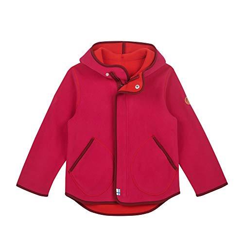 Finkid Jumppa Zip in Inner Fleece Jacket Girls, Raspberry/Cabernet Taille Enfant 100/110 2019 Veste