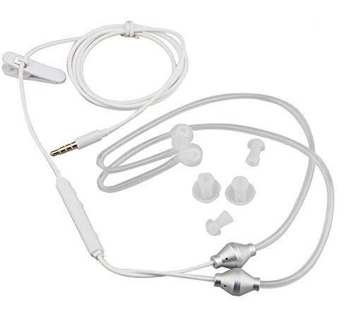 Eoncore 3.5mm Stereo Air Tube Wired Earphone Anti-Radiation Binaural Headsets