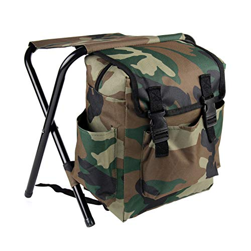 BALLSHOP Race Day Heavy Duty Rucksack Camping Fishing Tackle Bag Backpack with Stool Seat Fishing Rucksack With Seat