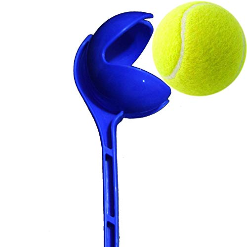 RKP Side Arm | Cricket Ball Thrower | Leather Ball Thrower (Blue) with Tennis Ball