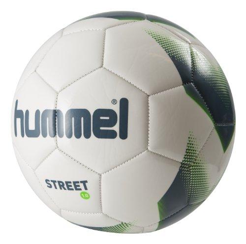 Hummel Erwachsene Fußball 1.0 Street, White/Blue/Green, 5