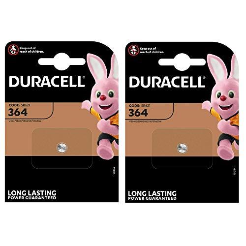 2x Duracell 364 1.5v Silver...