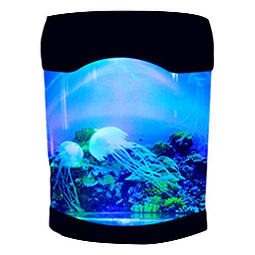 Buding Lámpara de lava con forma de medusas, para acuario, cambia de color, lámpara de estado de ánimo, lámpara de lava, para niños, dormitorio, Navidad, cumpleaños, oficina en casa