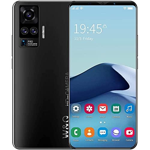 HGDM Teléfono Móvil, Android 10.0, Teléfonos Inteligentes 4G con SIM Gratis Desbloqueados, Pantalla De 5.8 Pulgadas, Cámara De 13MP + 8MP, 4GB + 64GB GPS WiFi, Face ID,Negro