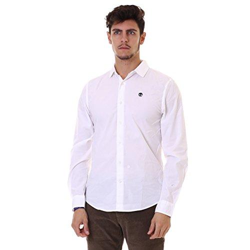 Timberland Herren Ls Sncook Rv Strch P Freizeithemd, Gr. XX-Large, Weiß (White 100)