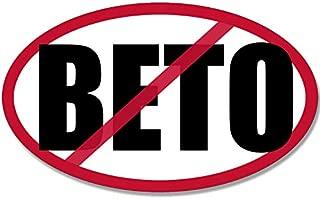 American Vinyl Oval NO BETO Sticker (Anti o'rourke pro ted Cruz Texas Senate Senator)