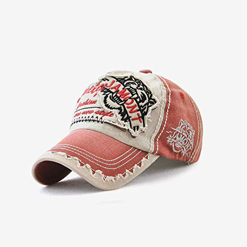 wtnhz Fashion items Tiger head sun hat ladies embroidery baseball hat cotton men's outdoor leisure European and American caps