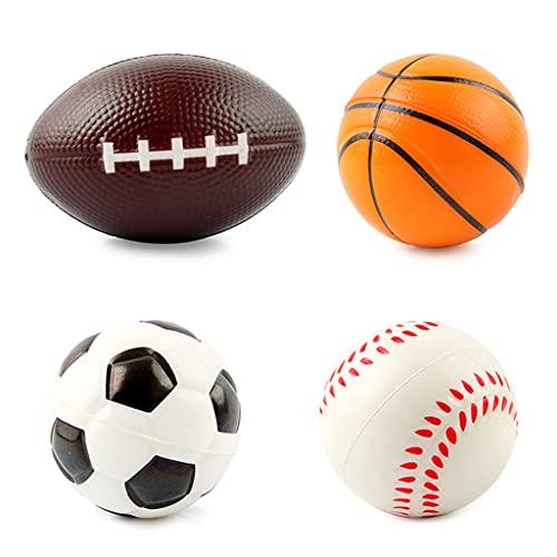 SHINAN 1 Unidades Bolas de Espuma Suave Sensorial Deporte Bolas para Empuñadura Alivio de Presión Bola Incl Béisbol/Fútbol/Baloncesto/Fútbol