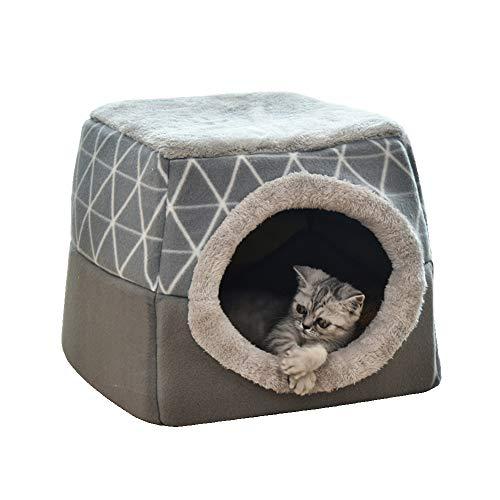 Cueva para cama de perro gato, casa y sofá para mascotas 2...
