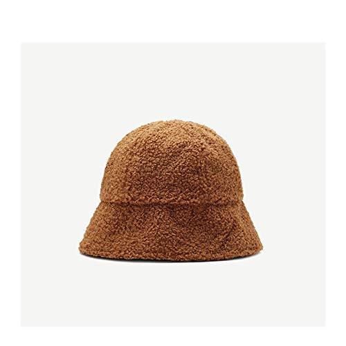 ZHENQIUFA Sombrero Pescador Gorras Sombrero De Cubo Vintage para Mujer Y Niña, Sombrero De Pescador Cálido A La Moda para Mujer, Gorra De Lavabo De Panamá para Viajes Al Aire Libre