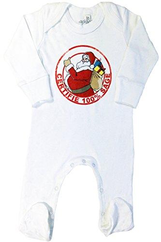 rigolobo Pyjama bébé Mixte Père Noël (3-6 Mois)