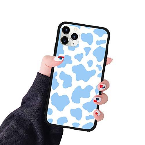 RosyClouds Funda de silicona para iPhone 12 11 Pro XS Max 7 Se20 XR X 8 PC de diseño de vaca