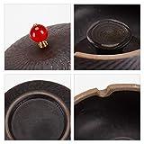 ONEDERZ Aschenbecher für Draußen mit Deckel, Keramik Windaschenbecher Geruchsdicht Sturmaschenbecher für Home Office Dekoration (Braun) - 8
