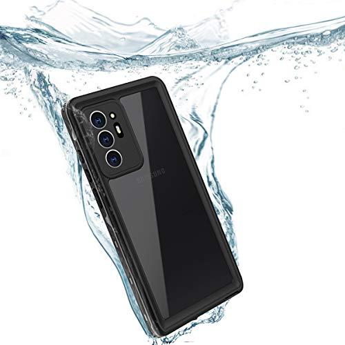 Redpepper IP68 Impermeable Carcasas para Samsung Galaxy Note20 Ultra 6,9-Pulgadas Completo Sellado Antichoque Antipolvo Cuerpo Submarino Delgado TPU PC Funda, Admite Carga Inalámbrica