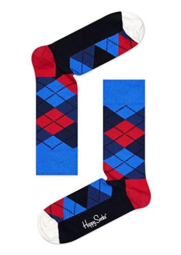 Happy Socks Argyle Sock Chaussettes, Noir, Bleu, Rouge, Blanc, Small Femme