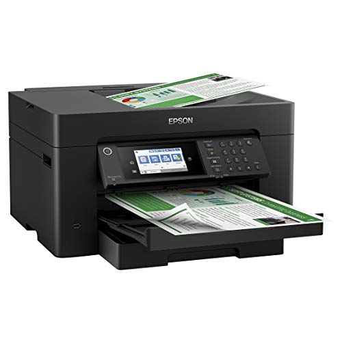 Epson Workforce Pro WF Series Wireless Wide-Format All-in-One Color Inkjet Printer - Print Scan Copy Fax