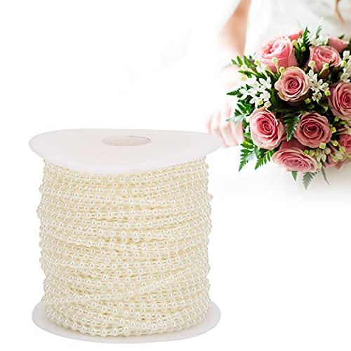 Cadena de cuentas de perlas, cuentas de perlas de imitación, 4 mm para decoración de vestidos de novia para decoración de ramo de boda