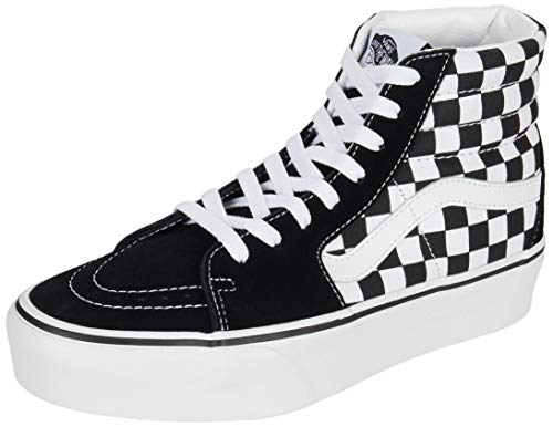 Vans Women's Sk8 Hi Platform 2.0 Checkerboard Suede/Canvas Trainer True White