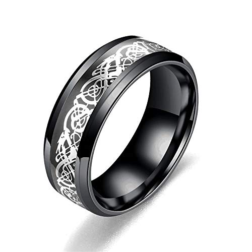 Titanium steel stainless steel dragon cut film ring couple European and American fashion men's ring