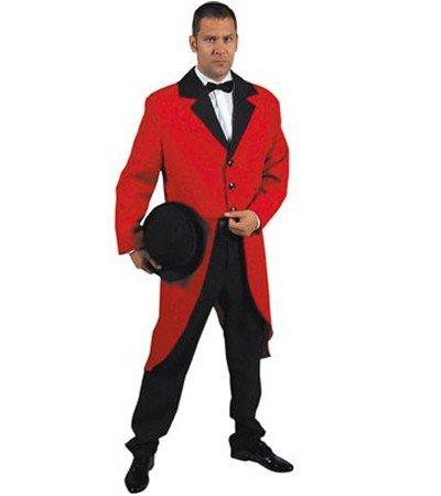 Frack für Herren Gehrock Herrenfrack S 48 50 Rot Tailcoat Red Hochzeit 20er 30er