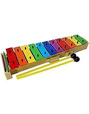 Glockenspiel carrillon metalofono xilofono DEEP DG27N2 cromático, 13 teclas colores y mazas - Rockmusic