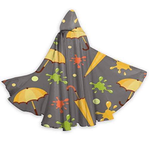 AQQA Dibujos Animados Lindo Divertido Colorido Paraguas Capucha Capa nios nias Capa con Capucha 59 Pulgadas para Navidad Halloween Cosplay Disfraces
