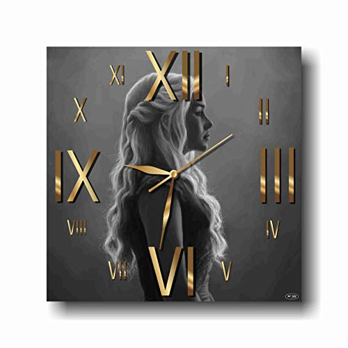Art time production Game of Thrones-Daenerys Targaryen 11'' Handmade Wall Clock - Get Unique décor for Home or Office – Best Gift Ideas for Kids, Friends, Parents and Your Soul Mates