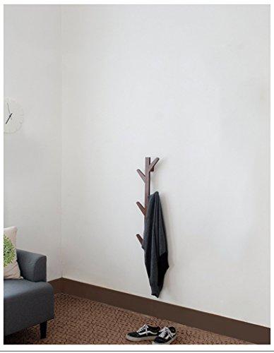 CYJZ® Bois massif ROBINET DE PAROI RACK Style européen Cintres de la chambre Creative Hook Hook Mur mural Stands décoratifs Rétro Couleur Portable polyvalent (taille : S)