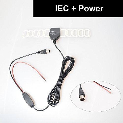 E-KYLIN Car Automobile TV Radio FM Antenna Signal Amplifier Booster Digital TV DVBT ATSC ISDB Analog for Car Dash DVD GPS Car Stereos Head Unit - IEC Plug