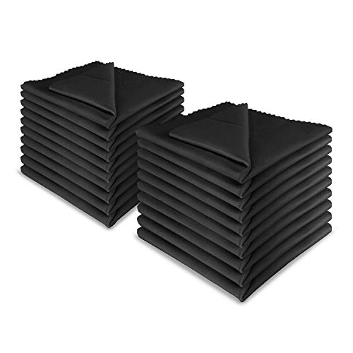 20x LetsSwipeThat Mikrofasertücher - 30x30 cm Mikrofaser Brillenputztuch. Kamera Objektiv Microfaser Reinigungstücher. LCD, Led TV Bildschirm Microfasertuch Reinigung. Laptop pc Display Reiniger Tuch