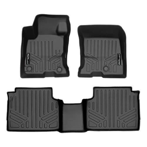 SMARTLINER All Weather Custom Fit Floor Mats 2 Row Liner Set Black for 2020-2021 Ford Escape Hybrid Models Only
