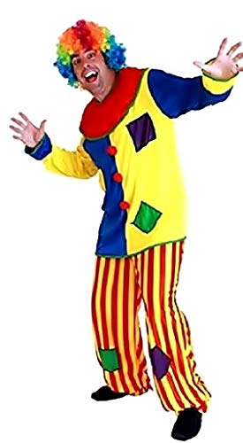 EVRYLON Clown Karneval kostüm Zirkus Mehrfarbig Erwachsene einheitsgröße