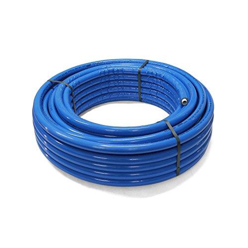 Pipetec Aluverbundrohr Aluminium Mehrschichtverbundrohr 16x2 mm 6mm blau 50m Isolierung PEX Mehrschicht-Verbundrohr MV-Rohr Mehrschichtrohr Heizung Wasser